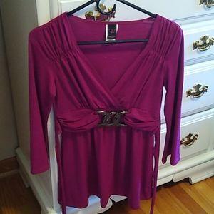 Berry dress top